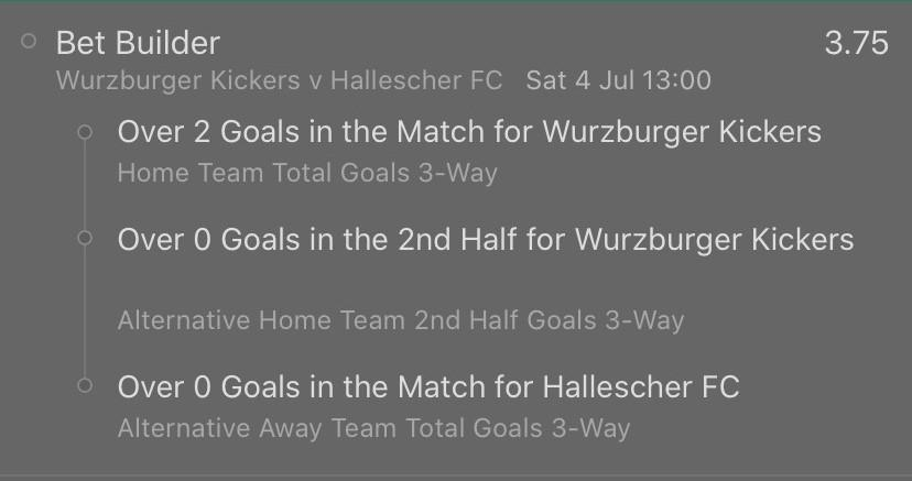 Suggested bet